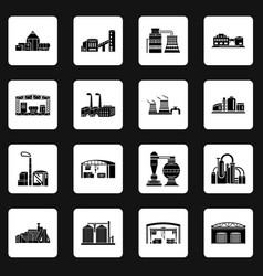 factory and production buildings vector image