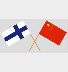 Finland and china flags official colors vector
