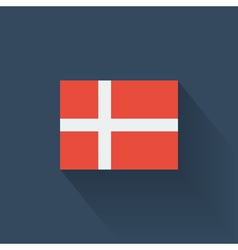 Flat flag of Denmark vector image