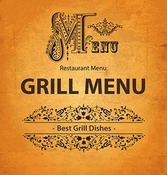Food and drink menu vector