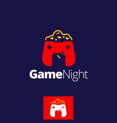 Game night symbol vector