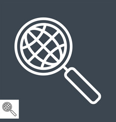 globe search line icon vector image