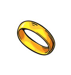 Golden ring vintage black engraving vector
