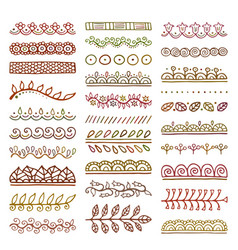 Hand drawn dividers set vector