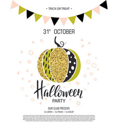Happy halloween invitation to party with cute vector