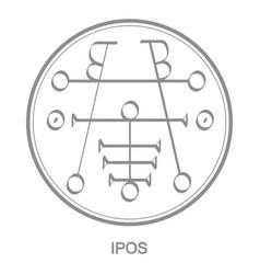 Icon with symbol demon ipos vector