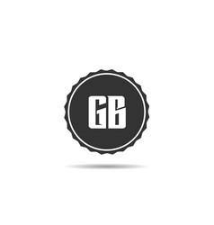 initial letter gb logo template design vector image