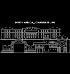 Johannesburg silhouette skyline south africa vector