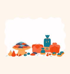 Korean holiday chuseok design vector