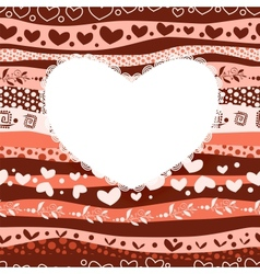 Love Valentines Day Card on Waves Lines Seamless vector image vector image