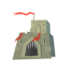 Medieval fortress castle on a vector