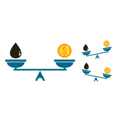 money oil and scale vector image