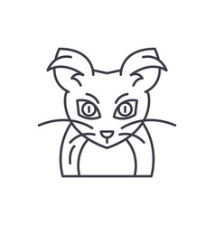 monster mouse line icon concept monster mouse vector image