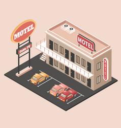 Motel color concept vector