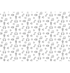Music audio sound seamless background vector image