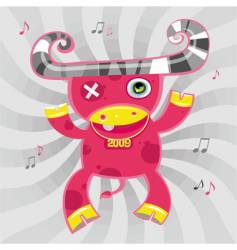 Music cow symbol of 2009 vector
