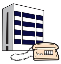 Phone and building vector