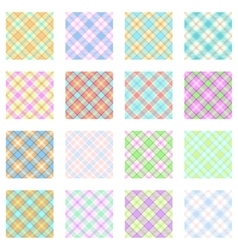 Plaid Patterns Collection vector image