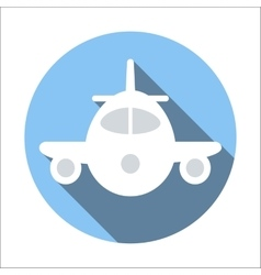 Plane flat icon vector
