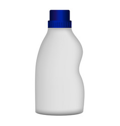 plastic bottle cleaner mockup realistic style vector image