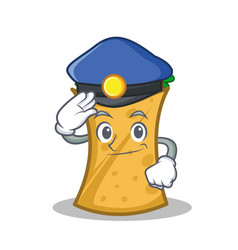 police kebab wrap character cartoon vector image