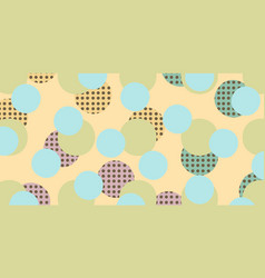 pop art retro circles background vector image