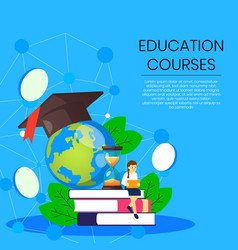Poster different educational course vector