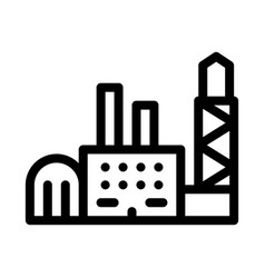 power station icon outline vector image