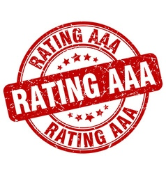 rating aaa red grunge round vintage rubber stamp vector image