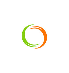 round abstract colored logo vector image