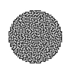round labyrinth maze game vector image