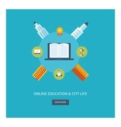 School and university building icon Urban vector image