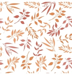 Seamless pattern with orange twigs silhouette vector image