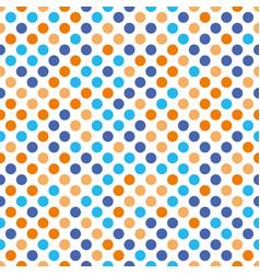 Seamless polka dot pattern orange and blue dots vector