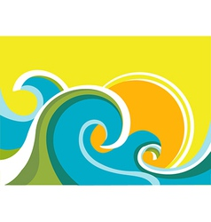 Seascape poster vector