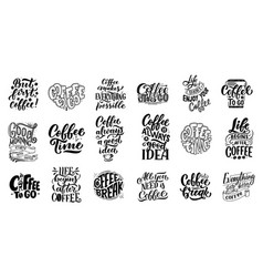 Set of hand lettering quotes with sketches for vector