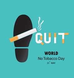 Shoe printsfoot prints and quit tobacco logo vector