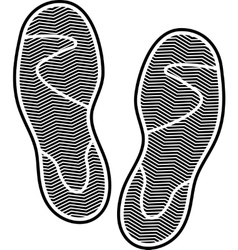 Shoes print vector