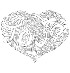 sketchy doodle heart vector image