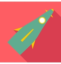 Space shuttle icon flat style vector