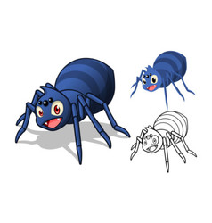 Spider Cartoon Character vector image