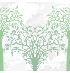 Spring abstract trees vector image