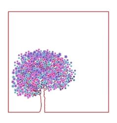 Spring flowering tree vector image