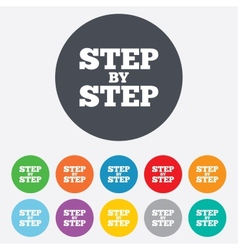Step step sign icon instructions symbol vector