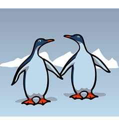 Two penguins vector image