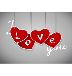 Valentine hanging labels vector