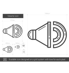 Volume line icon vector image