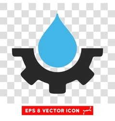 Water drop service gear eps icon vector