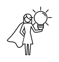 Woman pictogram cartoon vector
