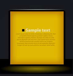Yellow light box vector